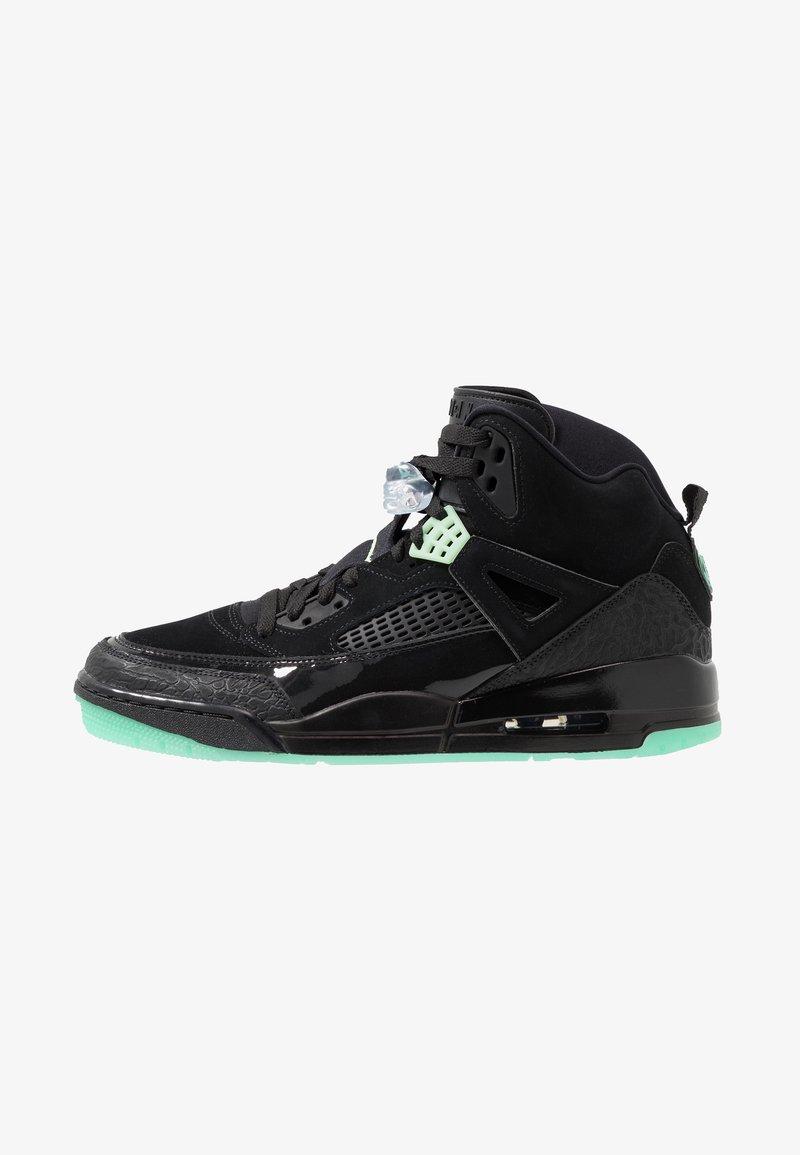 Jordan - SPIZIKE  - Skateboardové boty - black/green glow/anthracite