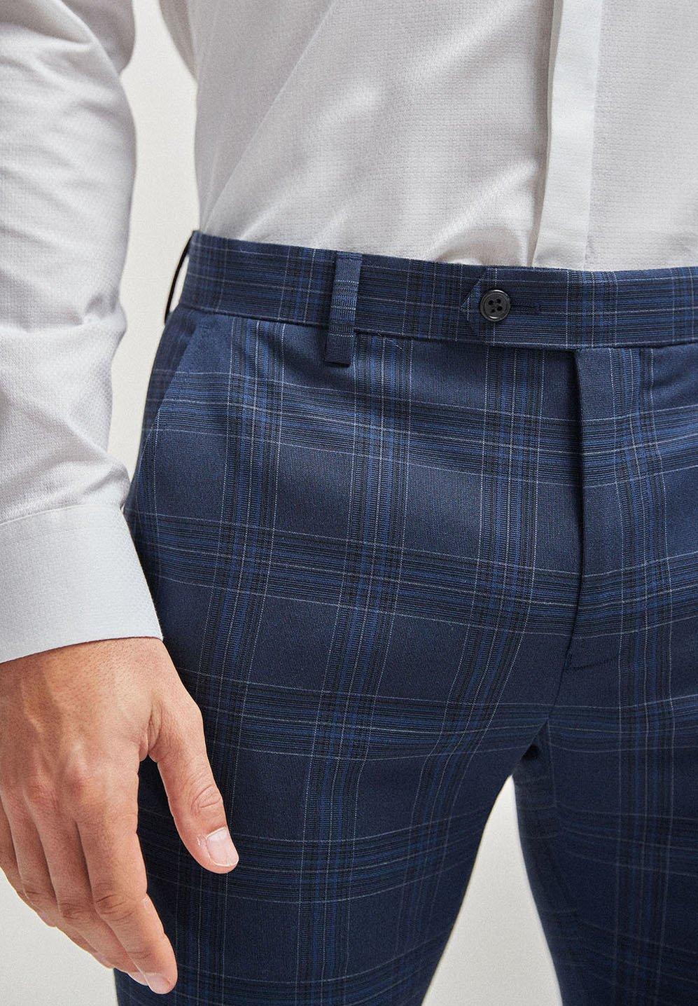 Homme CHECK SUIT: TROUSERS-SUPER SKINNY FIT - Pantalon de costume