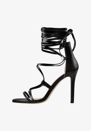 GLADIATOR - Sandalen met hoge hak - black