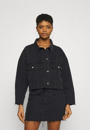PLEAT BACK OVERSIZED 80S JACKET - Giacca di jeans - black
