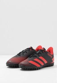adidas Performance - PREDATOR 20.4 TF - Astro turf trainers - core black/active red - 3