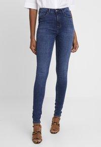 ONLY - ONLPAOLA HIGHWAIST - Jeans Skinny Fit - medium blue denim - 0