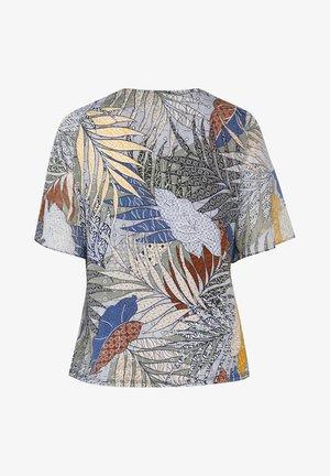 MIT BLÄTTERN BEDRUCKTES - Print T-shirt - khaki