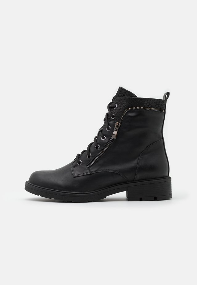 PERUNSCHA - Lace-up ankle boots - black