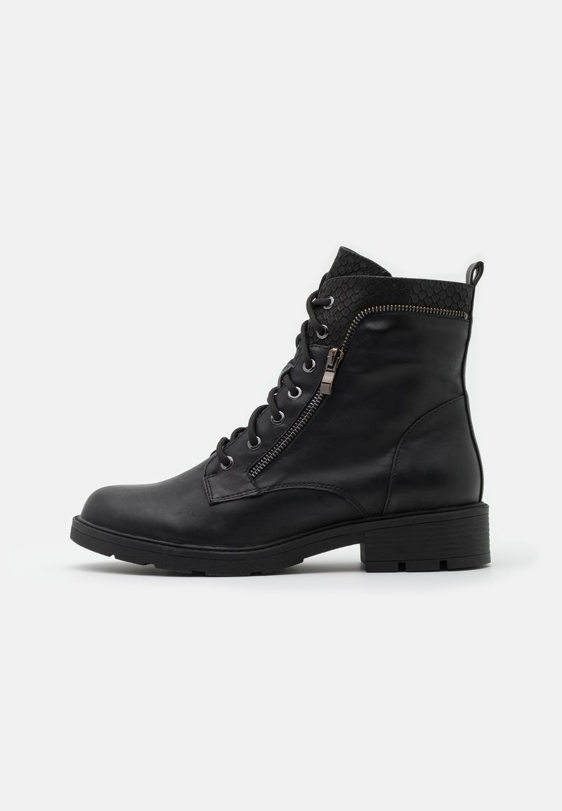 Fitters - PERUNSCHA - Snørestøvletter - black