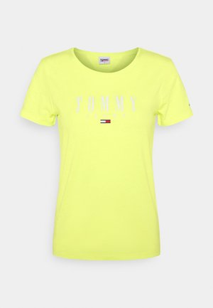 ESSENTIAL LOGO TEE - Camiseta estampada - faded lime