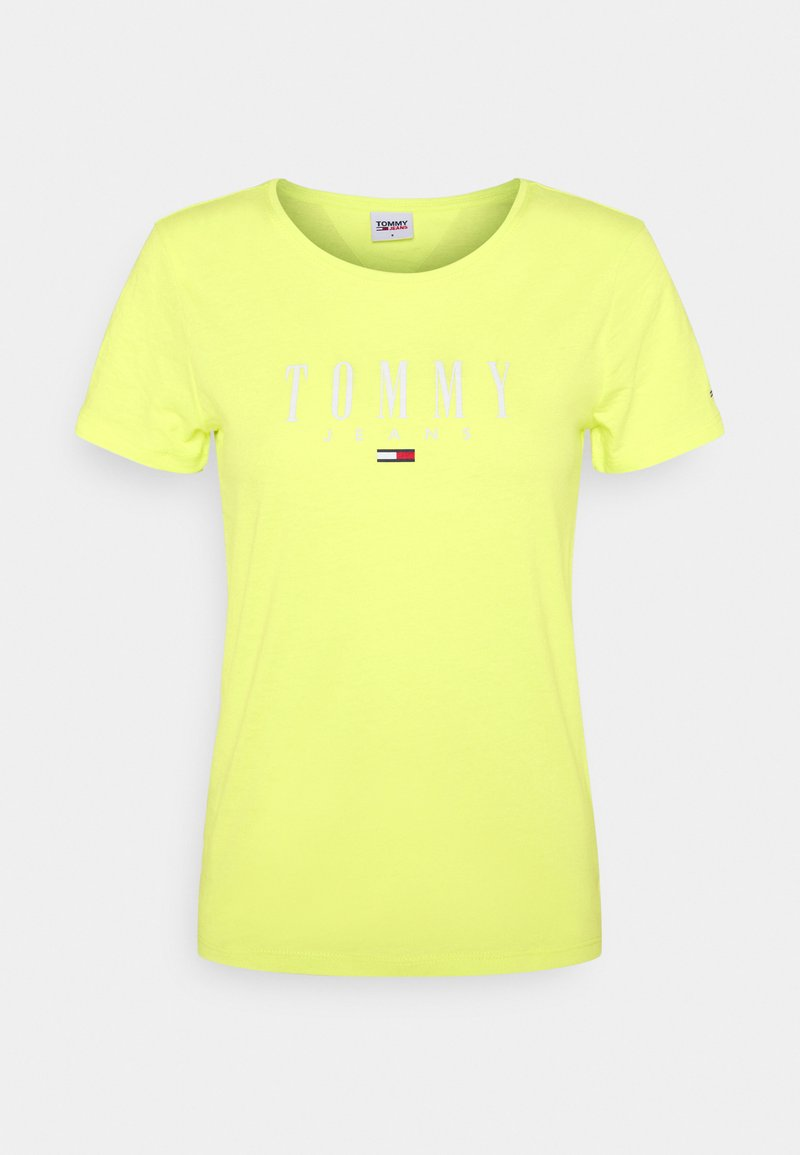 Tommy Jeans - ESSENTIAL LOGO TEE - Print T-shirt - faded lime
