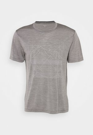 ACTIVIST MESSAGE TEE - Print T-shirt - soft grey