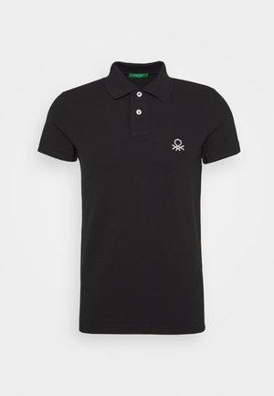 SLIM - Polo shirt - black