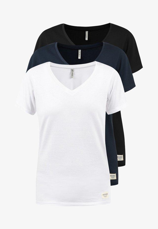 3ER PACK - T-shirt basic - black