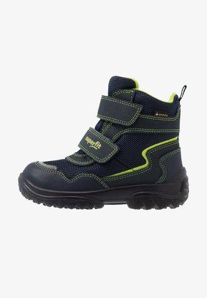 SNOWCAT - Winter boots - blau/grün