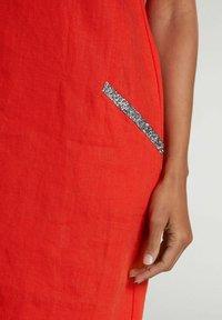 Oui - Jersey dress - fiery red - 3