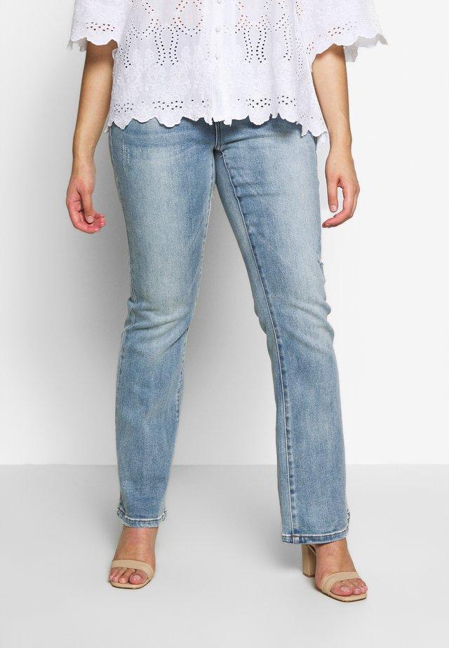 VMSHEILA FLARE - Jeans a sigaretta - medium blue denim