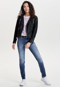 ONLY - ONLGEMMA BIKER - Faux leather jacket - black - 1