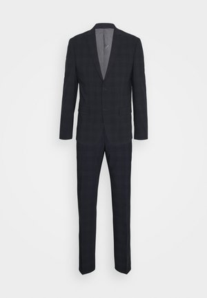 STRETCH SUBTLE CHECK SUIT - Suit - navy
