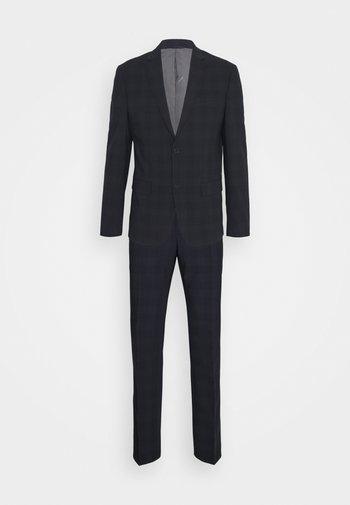 STRETCH SUBTLE CHECK SUIT - Suit - navy