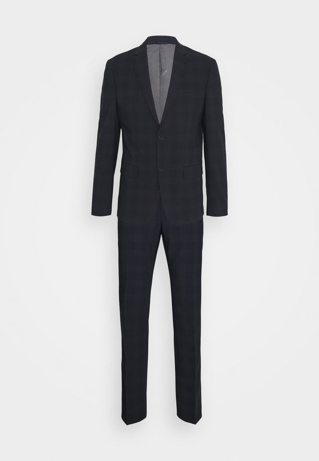 STRETCH SUBTLE CHECK SUIT - Completo - navy