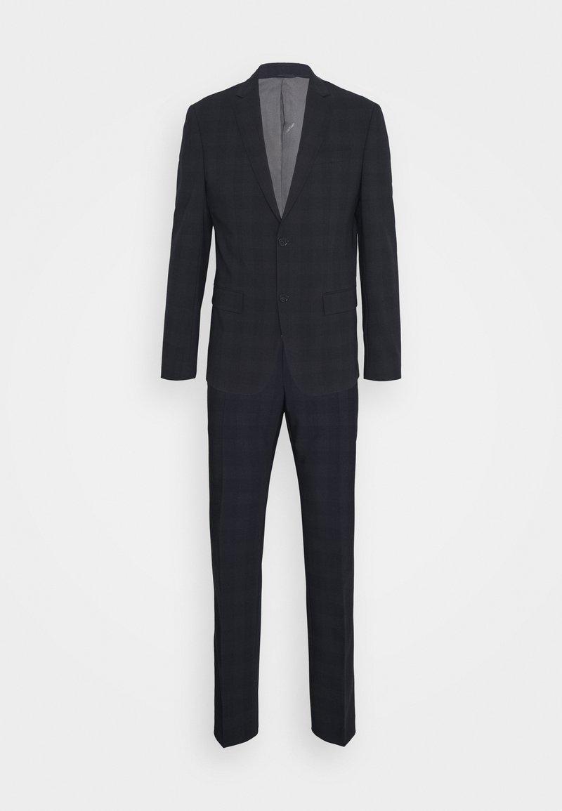 Calvin Klein Tailored - STRETCH SUBTLE CHECK SUIT - Suit - navy