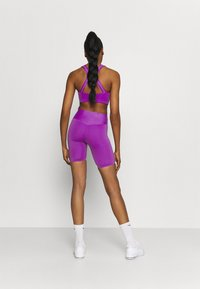Nike Performance - ONE LUXE - Tights - wild berry/white - 2