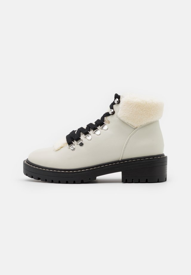 ONLBOLD LACE UP - Ankle boot - offwhite
