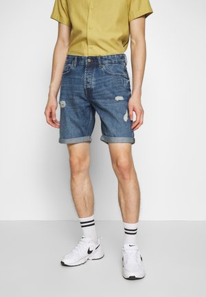 ONSAVI LOOSE BLUE  - Denim shorts - blue denim
