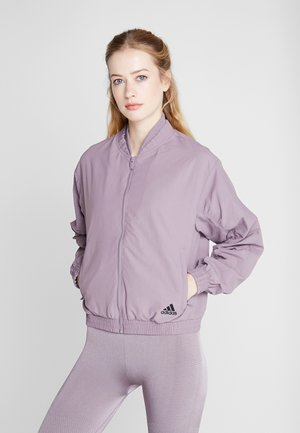 BOMBER - Sportovní bunda - purple