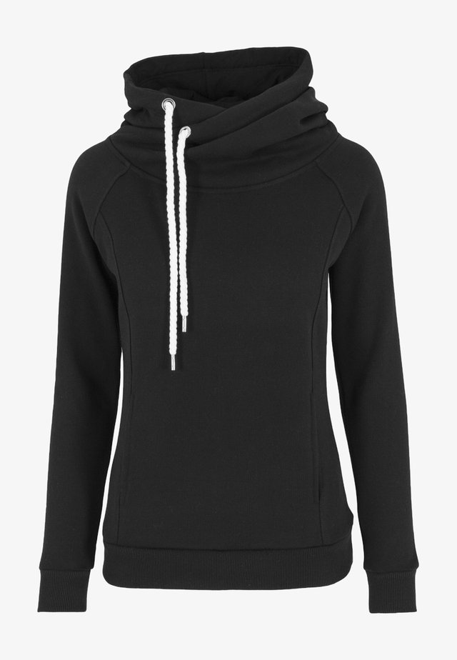 RAGLAN HIGH NECK  - Hoodie - black