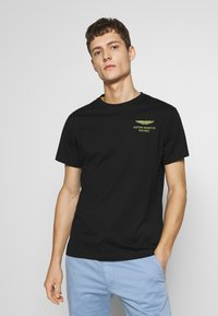 Hackett Aston Martin Racing - LOGO TEE - T-shirt basic - black - 0