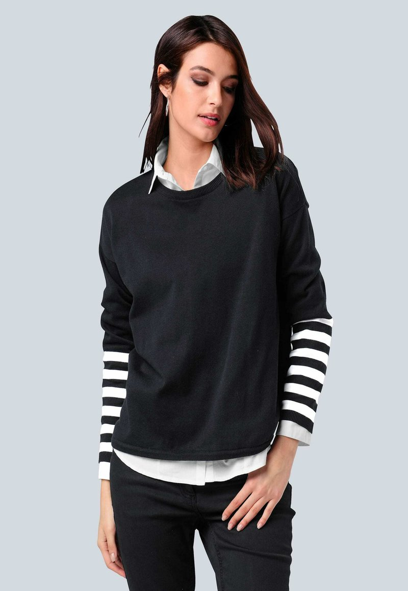 Alba Moda - Sweatshirt - schwarz,off-white