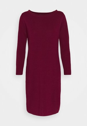 DRESS MERC - Strickkleid - bordeaux red