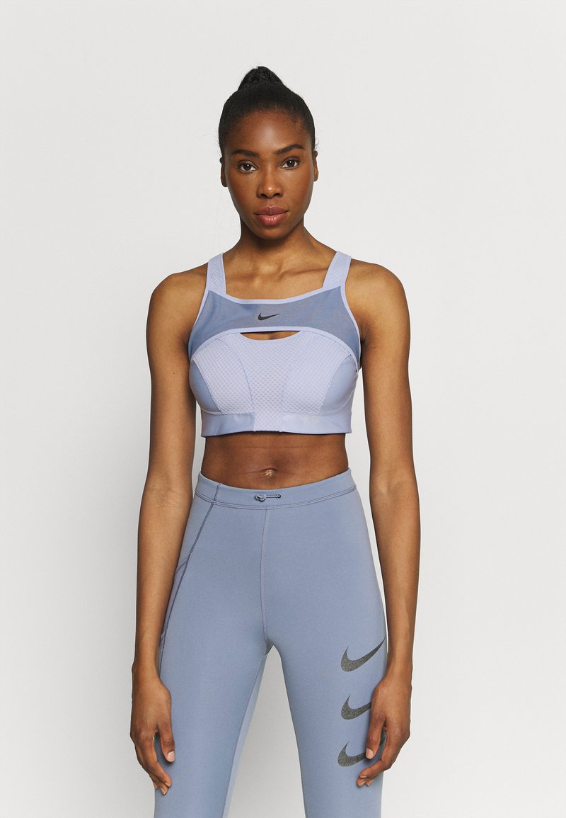 Nike Performance - ALPHA BRA - High support sports bra - ghost/ashen slate/black