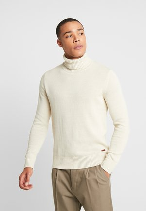 JORCLAY ROLL NECK - Stickad tröja - silver birch