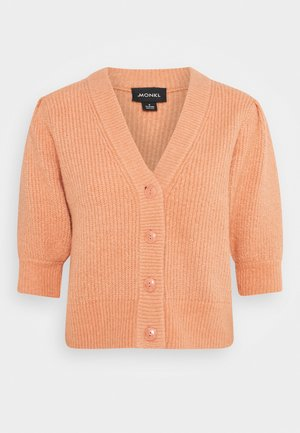 PUFFY CARDIGAN - Cardigan - orange medium dusty