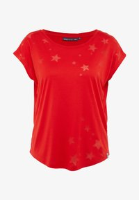 ONLY Play - ONPADINE CURVED BURNOUT TEE - T-shirt med print - flame scarlet - 3