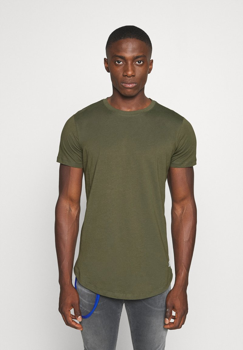 Jack & Jones - JJENOA - Basic T-shirt - forest night