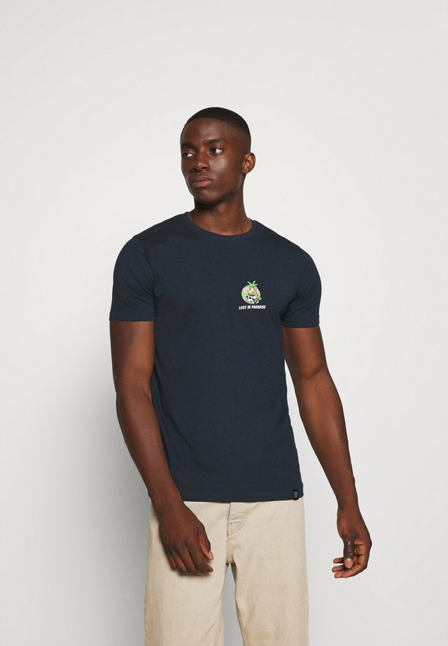 TROPIC SKULL TEE - Print T-shirt - navy