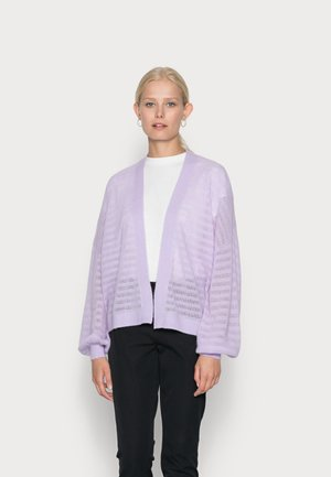 OPEN CARDIGAN WITH LONG SLEEVE - Vest - pastel lilac