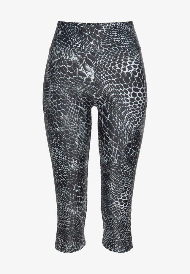 Leggings - schwarz-weiß-gemustert
