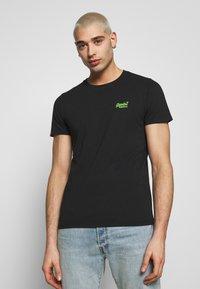 Superdry - NEON LITE TEE - T-shirt basic - black - 0