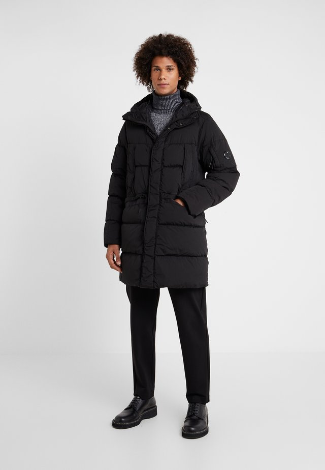 LONG PUFFER - Down jacket - black