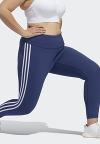 adidas Performance - BELIEVE THIS 3-STRIPES 7/8 LEGGINGS - Tights - blue - 4