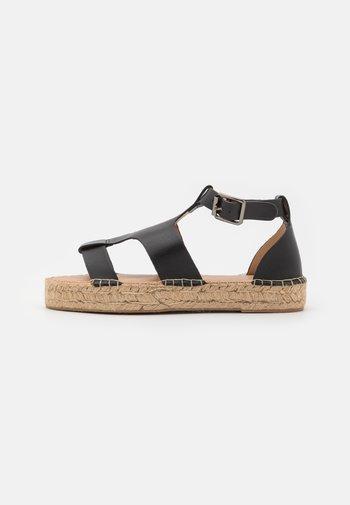 LUCILLE - Sandály na platformě - black