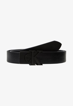 SKINNY MONOGRAM - Belt - black