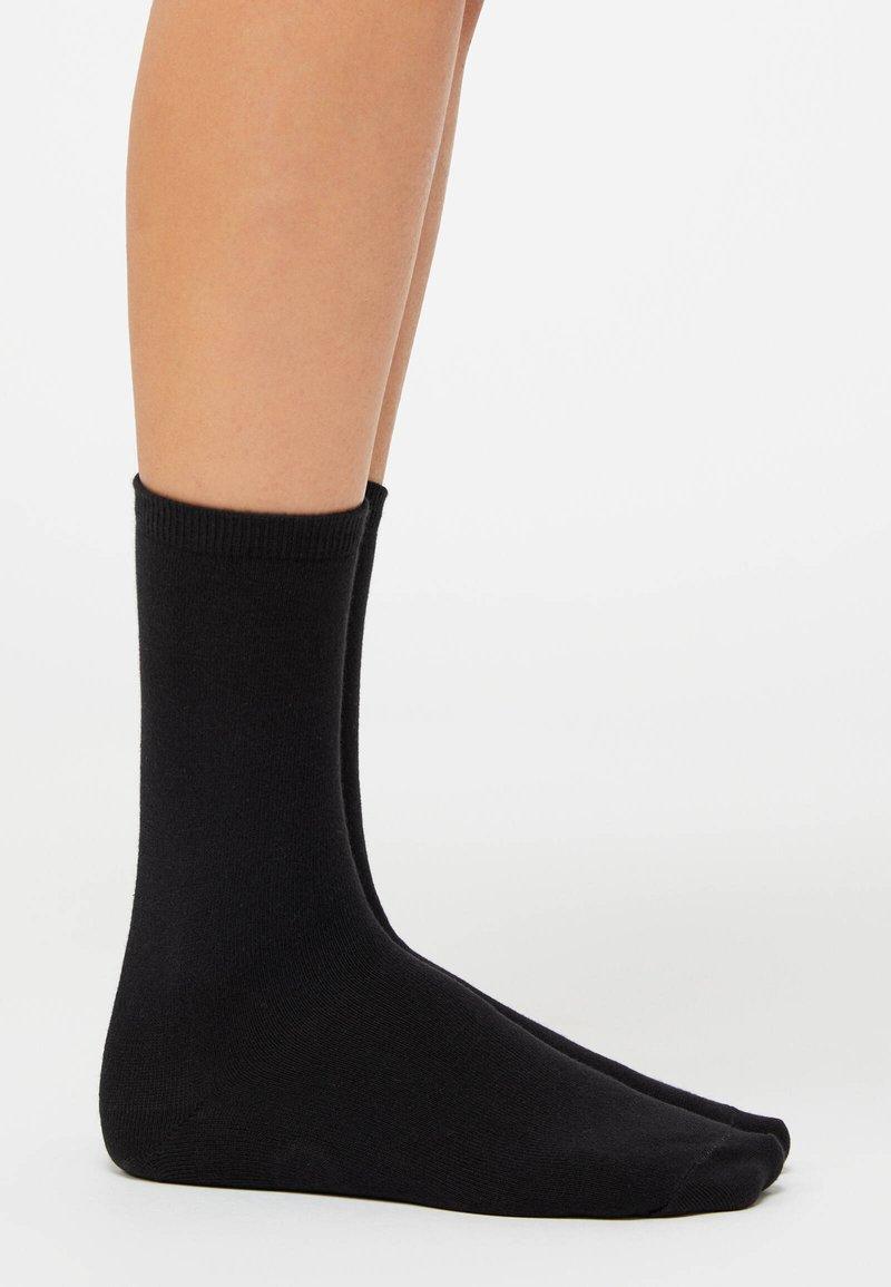 OYSHO - 5 PAIRS OF COTTON SOCKS - Socks - black