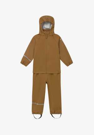 BASIC RAINWEAR RECYCLE SET - Pantaloni impermeabili - rubber