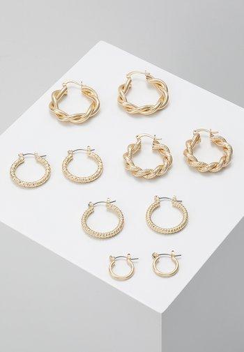 ONLCRISTEL CREOLE EARRINGS 5 PACK - Earrings - gold-coloured