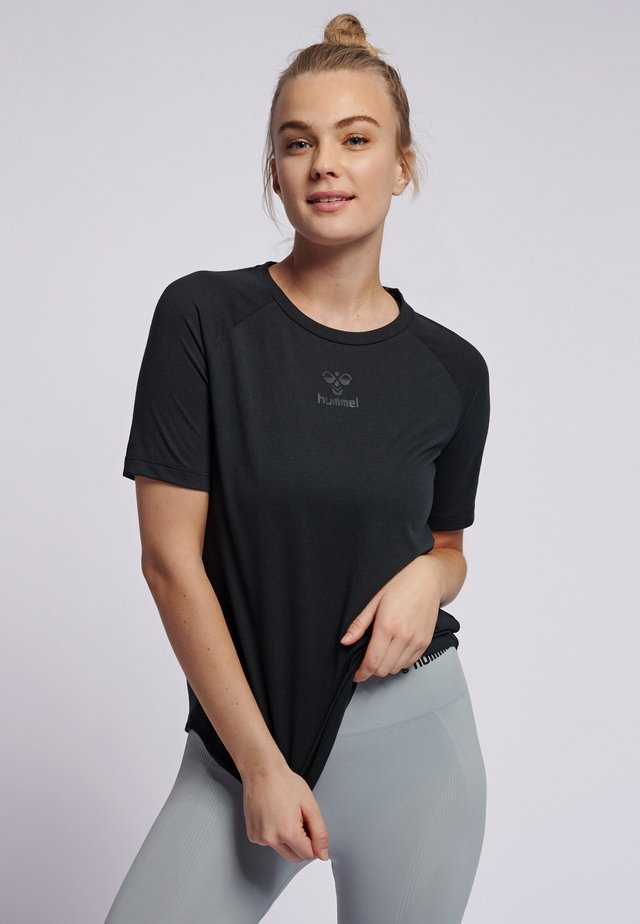 HMLVANJA - Basic T-shirt - black