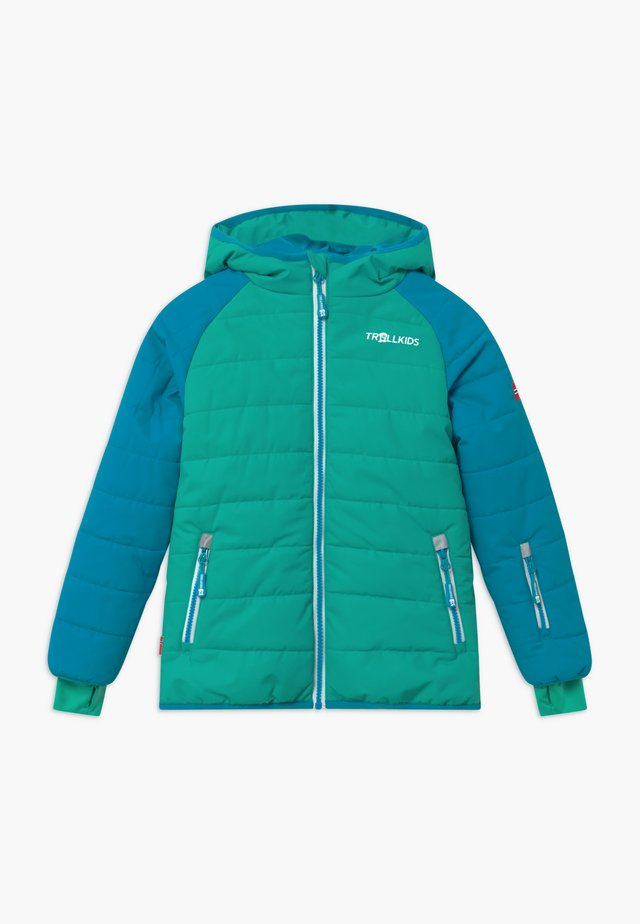 KIDS HAFJELL SNOW JACKET PRO - Ski jas - light petrol / dark mint / white