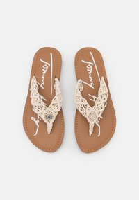 Tommy Hilfiger - FOOTBED  - T-bar sandals - ivory - 5