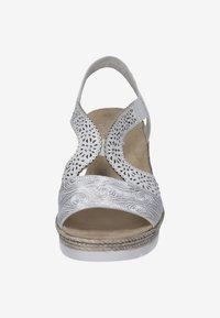 Rieker - Wedge sandals - white - 5